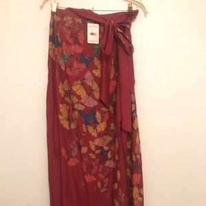 NWT Free People wrap skirt